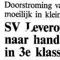 SV Leveroy streeft naar handhaving 3e klasse